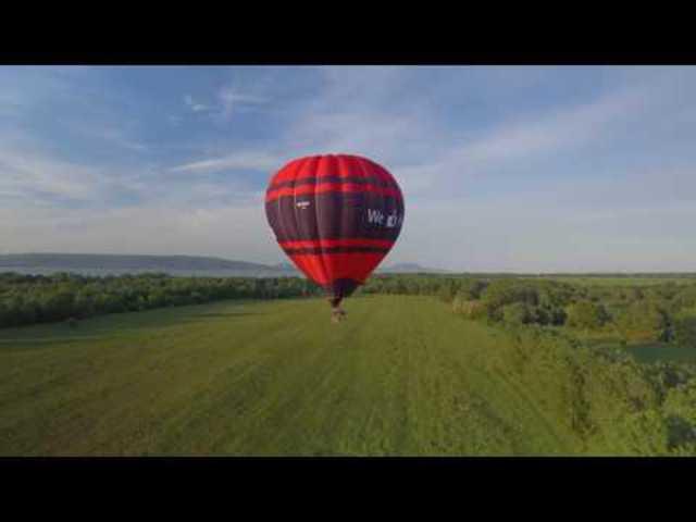 A hévízi ballon gyöngyörű repülése