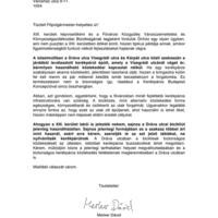 Bicikliút a semmibe - levél Hagyó Miklósnak