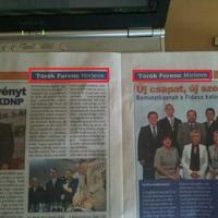 Török Ferenc polgármester-jelölt...