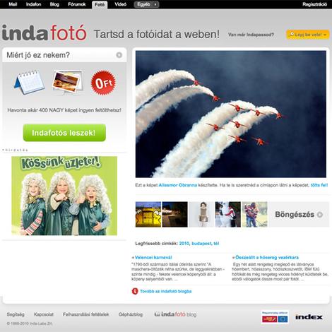 Új címlap és néhány apróbb frissítés az Indafotón