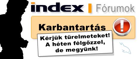 index forumok karbantartás, index.forum.hu