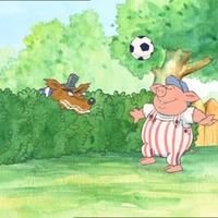 Íme gyereknapra a focizó kismalac