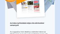 Első helyen az Index címlap