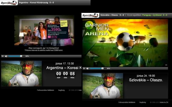 Szétkattintott szpotok a SportGéza élő foci-vb közvetítésében