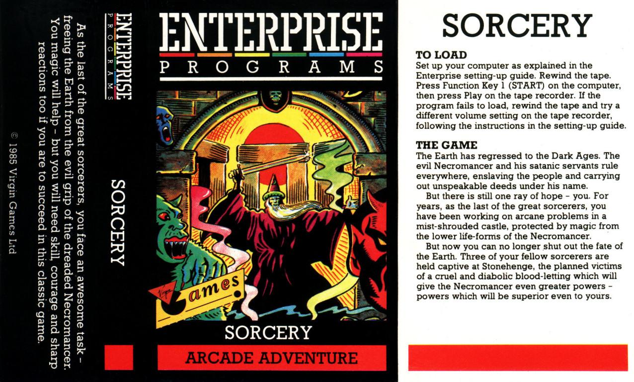 Egyik kedvenc játékkazettánk borítója: Sorcery