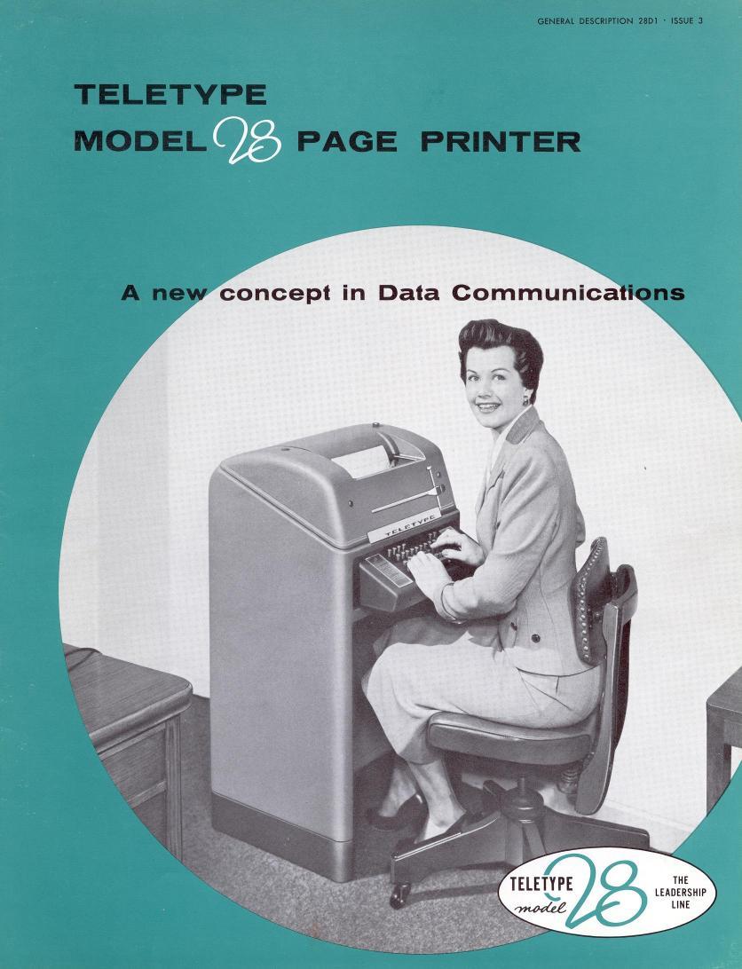 Vim történelem: Teletype, egy korai számítógép terminál