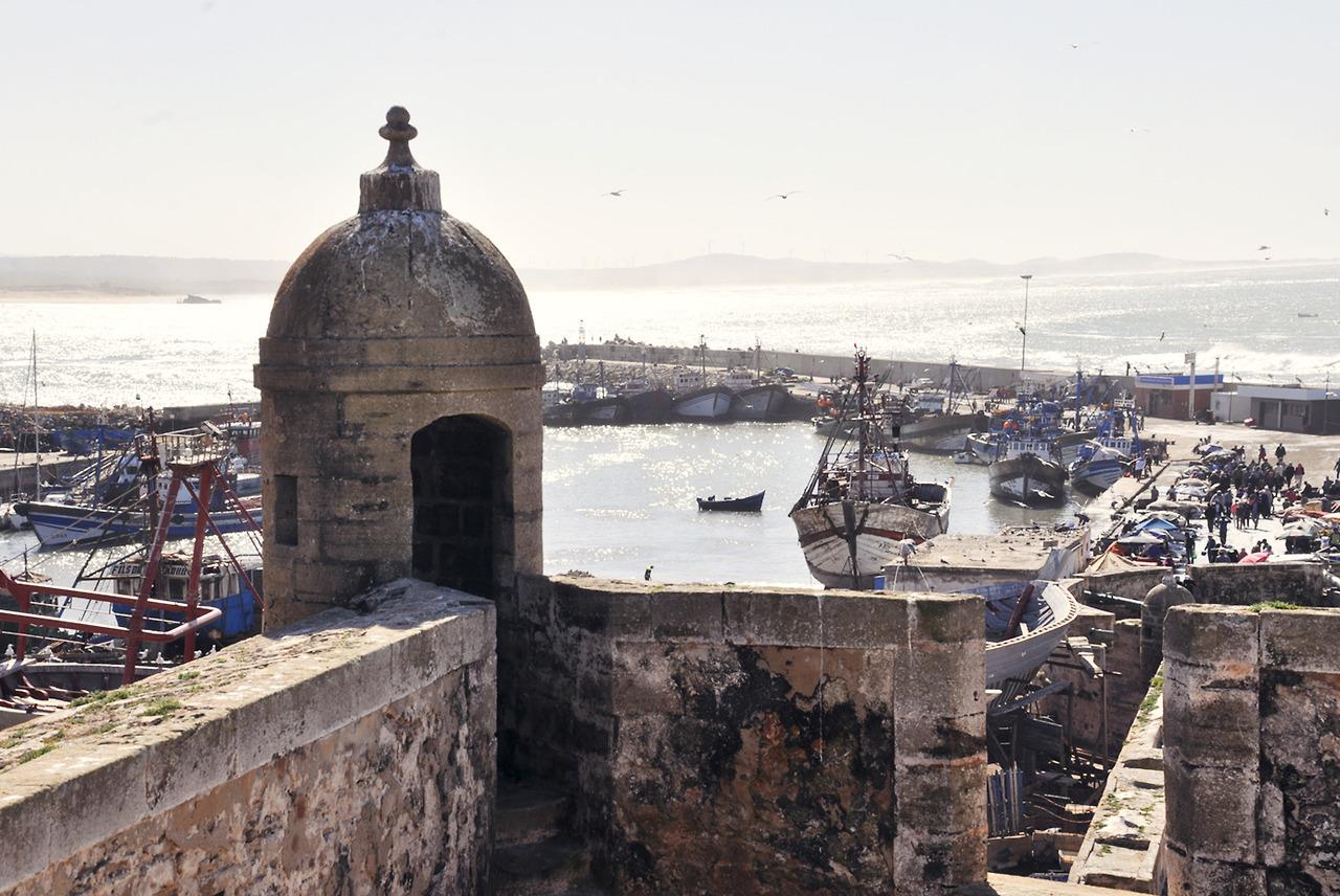 Kikötő-öböl a bástyáról
