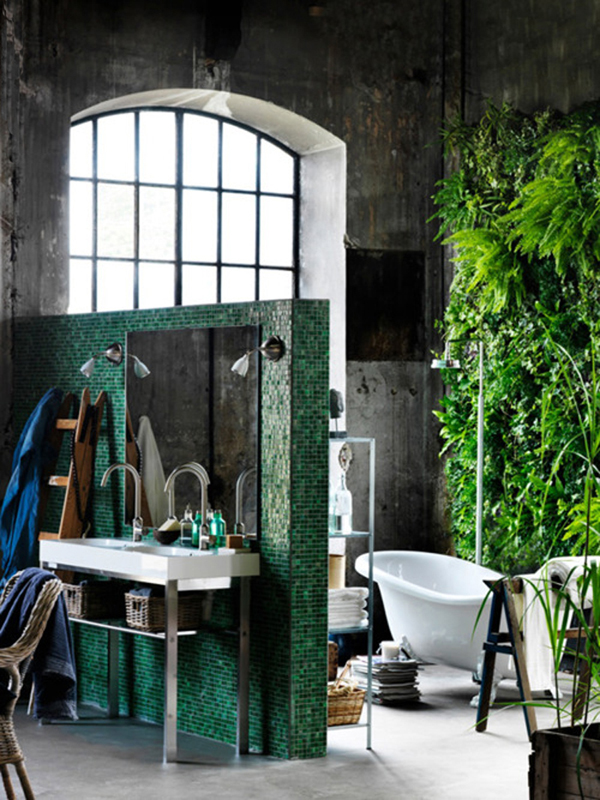 Industrial-bathroom-style-with-plants-sink-on-the-wall-divider.jpg