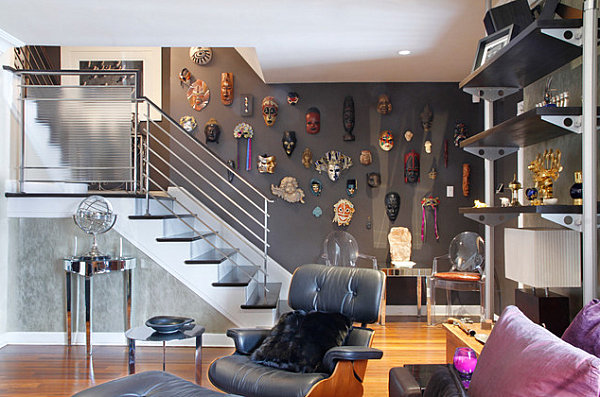 Mask-collection-lining-the-stairs.jpg