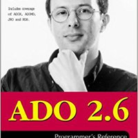 ,,READ,, ADO 2.6 Programmer's Reference. encodes every latest Marta Exchange Social