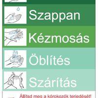 Helyes kézmosással megelőzhetjük a betegségeket!