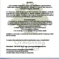Az Ormánság Zöldút Munkacsoport következő találkozója