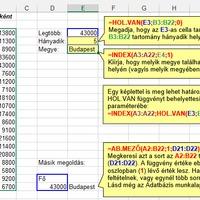 A legfontosabb Excel függvények
