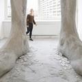 Óriás beton lábak