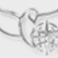 Aranyszínű galamb kitűző