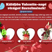Küldjön Valentin-napi virágot szerelmének!