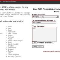 Ingyen sms küldés - Freesms.smsix.net
