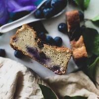 Glutenfree banana bread with blueberry