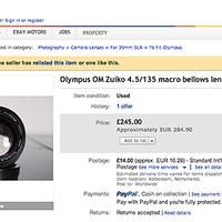 Zuiko MC MACRO 135mm f/4.5 ebay-n