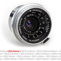 Nikon távmérős objektívek: Nikkor-C 25mm F4 (topogon) [2]