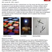 Egy éve volt, senki nem szúrta ki:) Transzparencia - Átláthatóság (kiállítás ajánló)