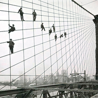 Eugene de Salignac: Painters on the Brooklyn Bridge, 1914