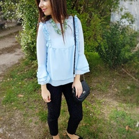 Blue Monochrome - őszi outfit inspiráció