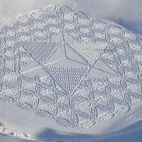 Simon Beck - Művészi óriás ábrák a hóban [20 fotó]