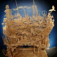 Elképesztő szerkezet 100.000 fogpiszkálóból