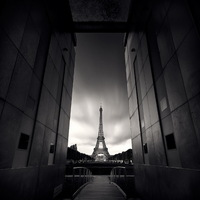 Párizs fehéren-feketén