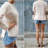 Flitteres pulóver könyök