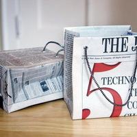 Díszzacskó készítése újságpapírból