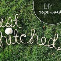 Kötél szavak - DIY