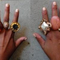 Gomb gyűrű - DIY