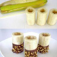 Töltött banános finomság