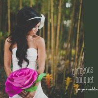 DIY virág esküvői csokor helyett