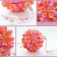 Gyönyörűséges virággömb papírból