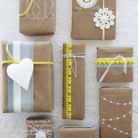 Egyszerű csomagolópapír extrákkal
