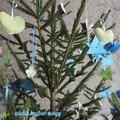 Szív alakú karácsonyfadísz varrása