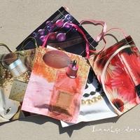 Papírzacskó ajándékoknak varrógéppel - DIY