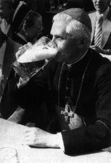 Cardinal Ratzinger with beer.jpg
