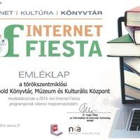 Internet Fiesta emléklap