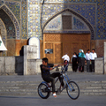 Esfahani easy rider at Imam Mosque