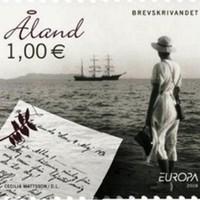 Tengerész-feleség levele egy balti kisállam bélyegén