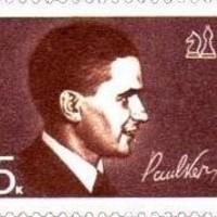 Paul Keres észt sakkozó aláírása