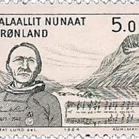 A grönlandi himnusz költőjének aláírása