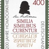 A homeopátia atyja, Hahnemann aláírása német bélyegen