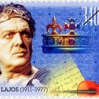 Kézírás Básti Lajos bélyegén