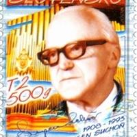 A híres szlovák zeneszerző, Suchon aláírása