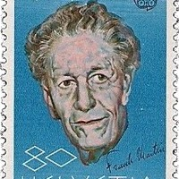 Frank Martin aláírása svájci bélyegen